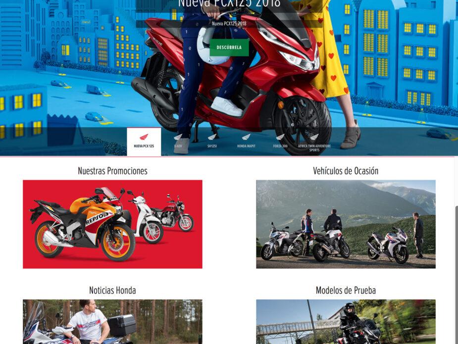 Web Concesionarios Honda